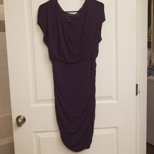 Eggplant purple crew neck dress